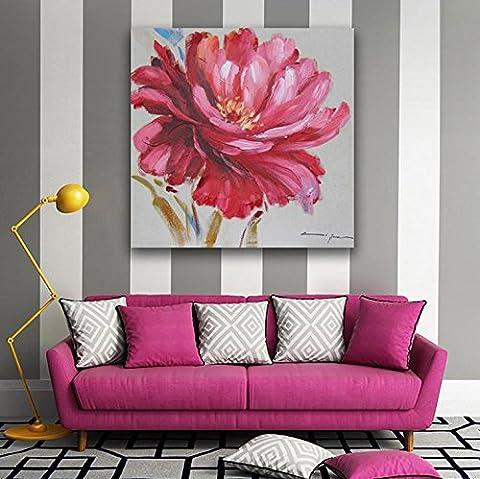 Bud Flattern Hand Gemalt Malerei Rose Bloom Blumen Wohnzimmer Schlafzimmer Bett Dekoration Malerei Kunst