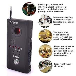 Hamtone™ Anti-Spy Wireless Signal Bug RF Detector Hidden Camera Laser Lens GSM Listening Device Finder Radar Radio Scanner Wireless Signal Alarm