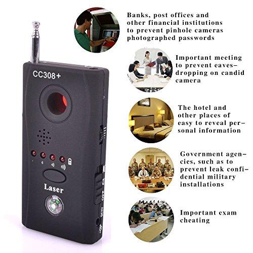 Signal-Suchgerät gegen Überwachung, Detektor für Kameraobjektive und GSM-Geräte, Wanzen