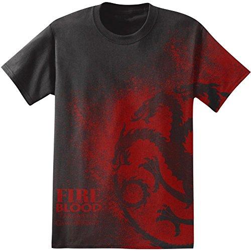 salpicaduras-de-juego-de-tronos-targaryen-para-hombre-negro-t-shirt-l