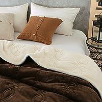 BDUK Doppia flangia Trapunta Quilt colore solido Blanket minimalista coperte lavabile