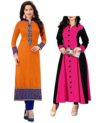 Pramukh Fashion Women's cotton kurtis ((1003.baby pink)_Free Size semi stich)