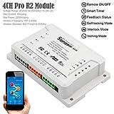 Interruttore intelligente,Bloomma Sonoff 4CH R2 Smart Switch 4 Canali 433MHz 2.4G Wifi Remote Control Moduli di automazione intelligenti per elettrodomestici