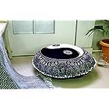 """Popüler Handicrafts sevilen el sanatları Lotus Mandalatapestry Kanaviçe hippi Bohemian Art duvar büyülü Denkens halısı, pamuk, Ying Yang Black And White, 32"""" Cushion Cover"""