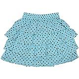 Rute Polka Printed Tiered Skirt