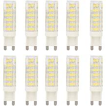 10X G9 Bulbo Llevado 7W Blanco Frío LED Bombillas 76 SMD 2835LEDs Super Brillant 500LM LED Iluminación Sustitución de la Incandescente AC220-240V