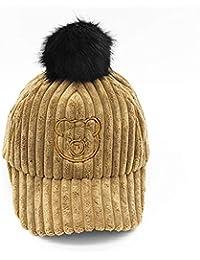REIA Gorra de béisbol para niños Otoño Invierno Sombrero Caliente Sombreros  de Pana para af691ced7cd