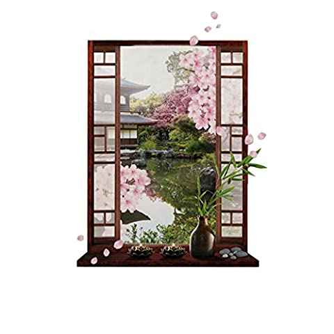 MagiDeal 3D Pink Peach Blossom Flower Tree Wall decal Removable stickers Home Decor