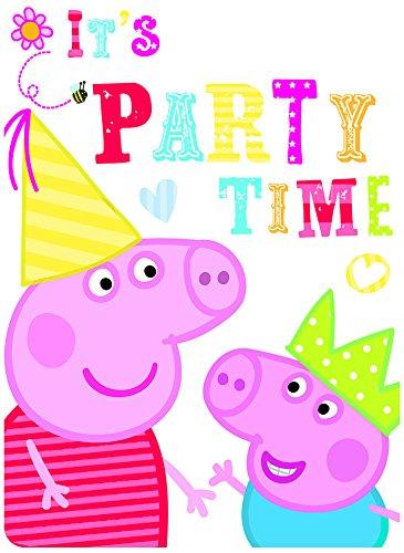 Gemma 6 Peppa Pig RED Birthday Party Invitations Invites Plus Envelopes