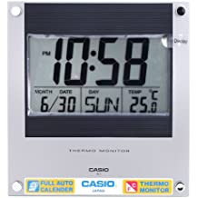 Casio Reloj Despertador con termómetro ID-11-1DF 24