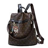Zaino per donna Antifurto Impermeabile Zaino casual Bear Stampa Design Daypack Borsa a tracolla per Lady Girls, Nero