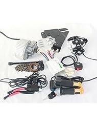 450W mise à niveau vélo électrique brosse moteur LED lentille vélo électrique phare manette des gaz avec interrupteur à clé barke levier peut s'adapter miroirs