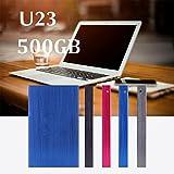 Hanbaili (bleu) Disque dur externe de bureau, disque dur Externe Externe de disque dur externe du disque 500GB HD pour l'ordinateur de bureau