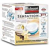 RUBSON - Recharges parfumées pour absorbeur d'humidité - Aroma Comfort - Parfum Vanille - 2 recharges