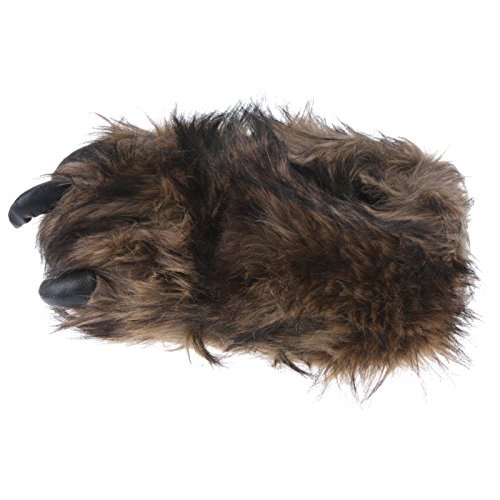 Monster Tier TH Pantoffel Plüsch 47 Braun Kuscheltier Kralle Foot 36 Herren Tierhausschuhe Bigfoot Schlappen Hausschuhe Braun Big EwqI6B
