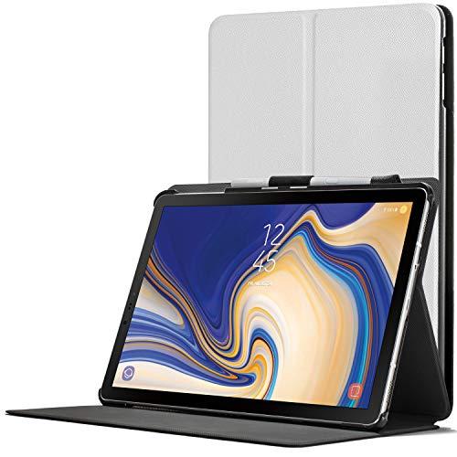 Forefront Cases Smart Hülle kompatibel für Samsung Galaxy Tab S4 10.5 | S-Pen Stifthalter | Magnetische Cover Galaxy Tab S4 10.5 Zoll Tablet-PC SM-T830/T835 | Auto Schlaf Wach Dünn Leicht | Weiß