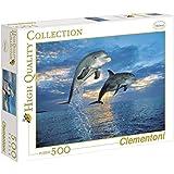 Clementoni - Puzzle de 500 piezas, High Quality, diseño Delfines (301393)