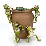 JYCRA 4 Stück Cartoon Kletterfrösche Kreative Mini-Figuren Tier-Ornamente Topfaufhänger für Büro Schreibtisch Zuhause Garten Topf Dekoration