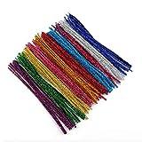 LINVINC Bastoncini Decorativi in Pipa Ciniglia 10 Colori Steli Scovolini Pipa Colorati per Art Craft, Stile 1 (10 Colori), 30 * 0.6CM