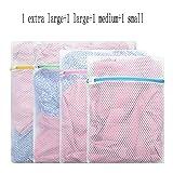 LFY Wäschesack - Packung mit 4 - Netz Wäschesäcke für Feinkost, Hemden, Unterwäsche, BHS, Socken, Reisetaschen Aufbewahrungstasche (größe : 1XL+1L+1M+1S)