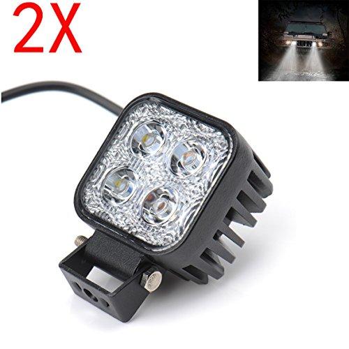 Preisvergleich Produktbild Himanjie® 2 Stück 12W LED Lampe Scheinwerfer kaltweiß Rücklicht für KFZ Arbeitsscheinwerfer wasserfest IP67
