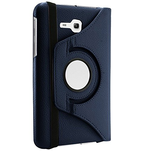 Smart Huelle - TOOGOO(R)360 ¡ã drehende PU-Leder Litchi Profil Schutzhuelle mit Schirm-Schutz und Stift fuer Samsung Galaxy Tab 3 Lite 7.0 T110 / T111 - - Schirm Galaxy 3 Samsung 7 Tab