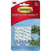 Command Ganchos - Transparente, 12 Hooks