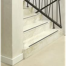50 piezas tiras antideslizantes para escaleras, transparente transparente, 60 cm de largo y 5 cm de ancho