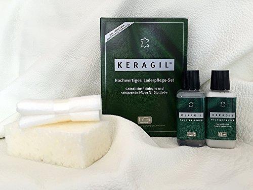 KERAGIL Lederpflege Set, Je 150 ML Reiniger und Pflege von LCK KERALUX. Sehr gut für Longlife Leder geeignet!