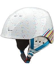 Tecno Pro Ski-casco de esquí para niña XT IS8 de peluche White/ Yellow/ - Rojo, color  - white / yellow / red, tamaño XS=48-51