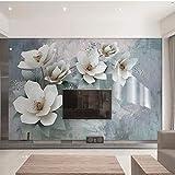 Foto Wallpaper 3D Moda Fiori Pittura murale Stile europeo Retrò Romantico Soggiorno Camera da letto Sfondo Pittura murale 3 D-120x100cm