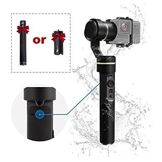 Feiyu G5 3 Axis Gimbal, FeiyuTech Splashproof Gimbal for Action Camera, Handheld Gimbal for GoPro Hero 6/5 / 4/3 / Session, Sony RX0, Yi Cam 4K, AEE Action Camera