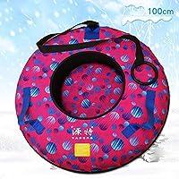 ZHAOK Trineo de Hielo Sled Tubo de Nieve de Inflable Trineo de Nieve Resistente de 39 Pulgadas Winter Fun Herramientas de Esquí,E