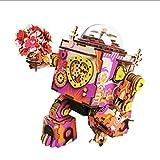 ZLD 3D-Puzzle-Roboter-Modell, Hölzerne Musikbox, Holzhandwerk, Holz Rätsel, Handgemachte Haus Geschenke, Spielzeug, Dekorationen