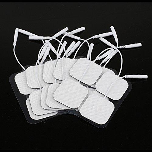 Almohadillas de electrodos TENS Electrodos Pads máquina–Electrodos de repuesto para decenas Digital Terapia Máquina masajeador 4* 4cm 20piezas