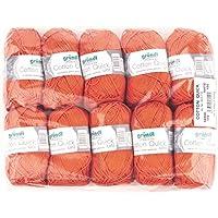 Gründl Quick Hilo de algodón, algodón, naranja, 29 x 12 x 7 cm
