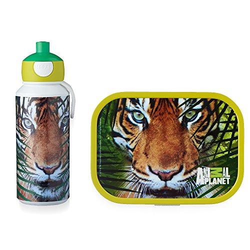 MEPAL Pop-up Trinkflasche und Brotdose lunchset-Campus-pubd-Animal-Planet-Tiger, abs, 0 mm, 2