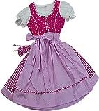Zauberhaftes Kinderdirndl Hanni mit Täschchen, 4tlg. Komplettset in verschiedenen Ausführungen, Farben:pink;Größen:92