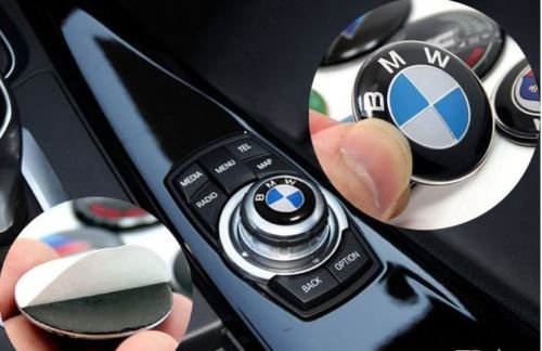 dunwoth Audio multimediale New BMW logo Badge logo adesivo per controller per Button iDrive 29 mm