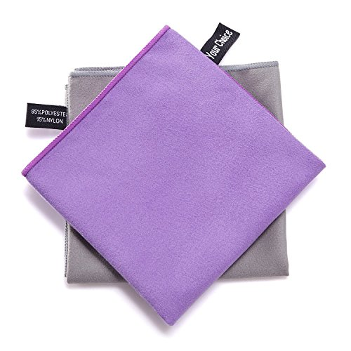 your-choice-2-pack-microfiber-travel-sports-camping-hiking-swim-workout-towels-ultra-compact-lightwe