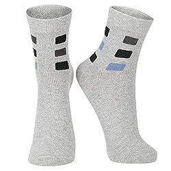 DUKK Men's Solid Grey Ankle Length Socks