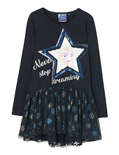Desigual Mädchen Kleid VEST_SALTLAKECITY Blau (Azul Tinta 5096), 116 (Herstellergröße: 5/6)