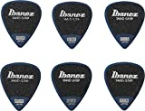 Ibanez PPA14MSGDB Lot de 6 médiators GRIP WIZARD à grip sable, 0.8mm, Bleu foncé