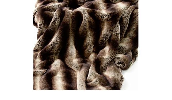 LR Long Runner 140x240 cms Argent /2/Tailles Faux Fur Throws New Meribel de Luxe en Fausse Fourrure/