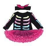 Liyukee Per 0~24 mesi Neonate Autunno infantile cotone Teschio scheletro Abito pagliaccetto a maniche lunghe tuta Vestito di Halloween