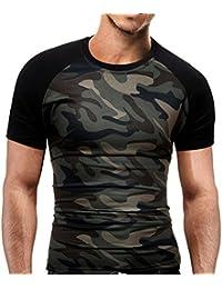 Amazon.es  Camisas Manga Corta Hombre - Camisetas de tirantes ... 70ad07139fa