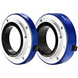 Neewer All-Metal Auto-Focus Macro Extension Tube Set 10mm&16mm for Sony E-Mount Mirrorless Camera NEX 3/3N/5/5N/5R/A6000/A6300 and Full Frame A7 A7S/A7SII A7R/A7RII A7II Blue