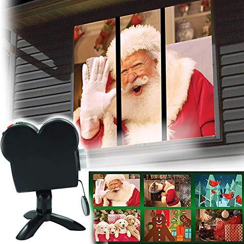 Weihnachtlicher Halloween-Fensterprojektor, praktische Projektion Licht, Dekoration für Zuhause, Außenbereich, Garten, Party