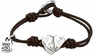 Uno de 50 Bracciale da Donna con perle bagnate argento e cuore Oseamencanta