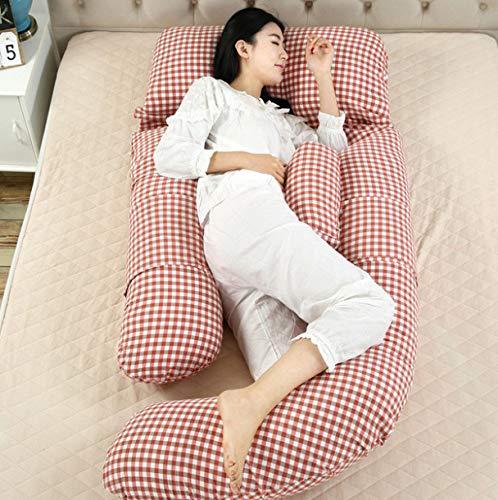 QZXCD Schwangerschaft Mutterschaft Unterstützung Kissen Gürtel Kissen Mutterschaft Kissen für Schwangere 100% Baumwolle große große G-förmige 180x110x80cm -